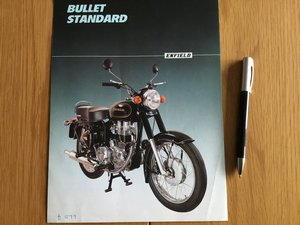 Picture of 1990 Royal Enfield bullet brochure For Sale
