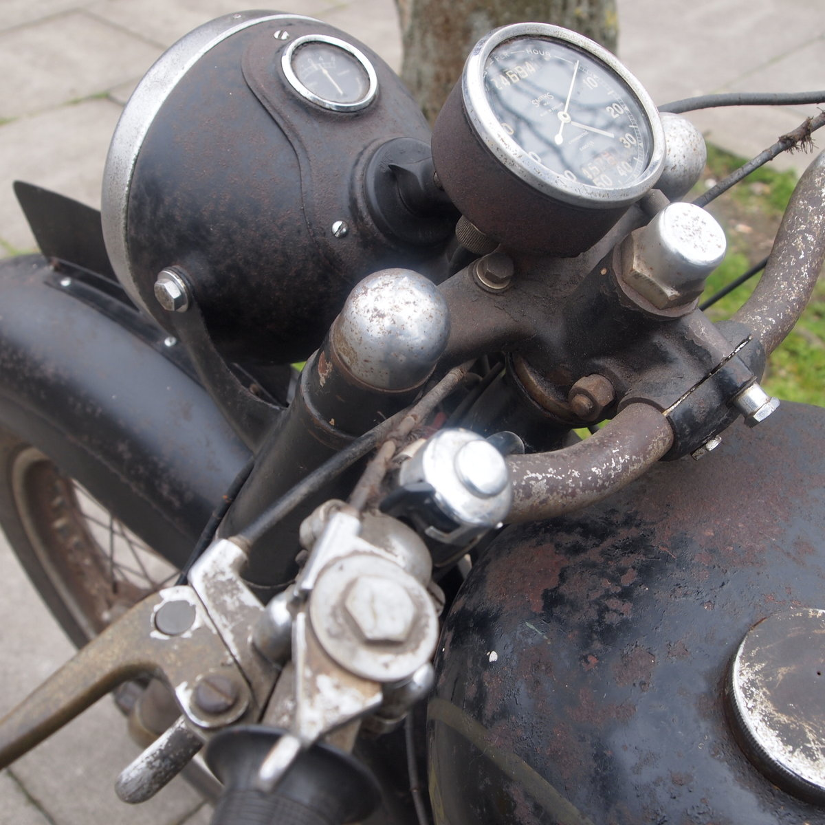 1949 Royal Enfield Model G 350cc Original & Unmolested. For Sale (picture 3 of 12)