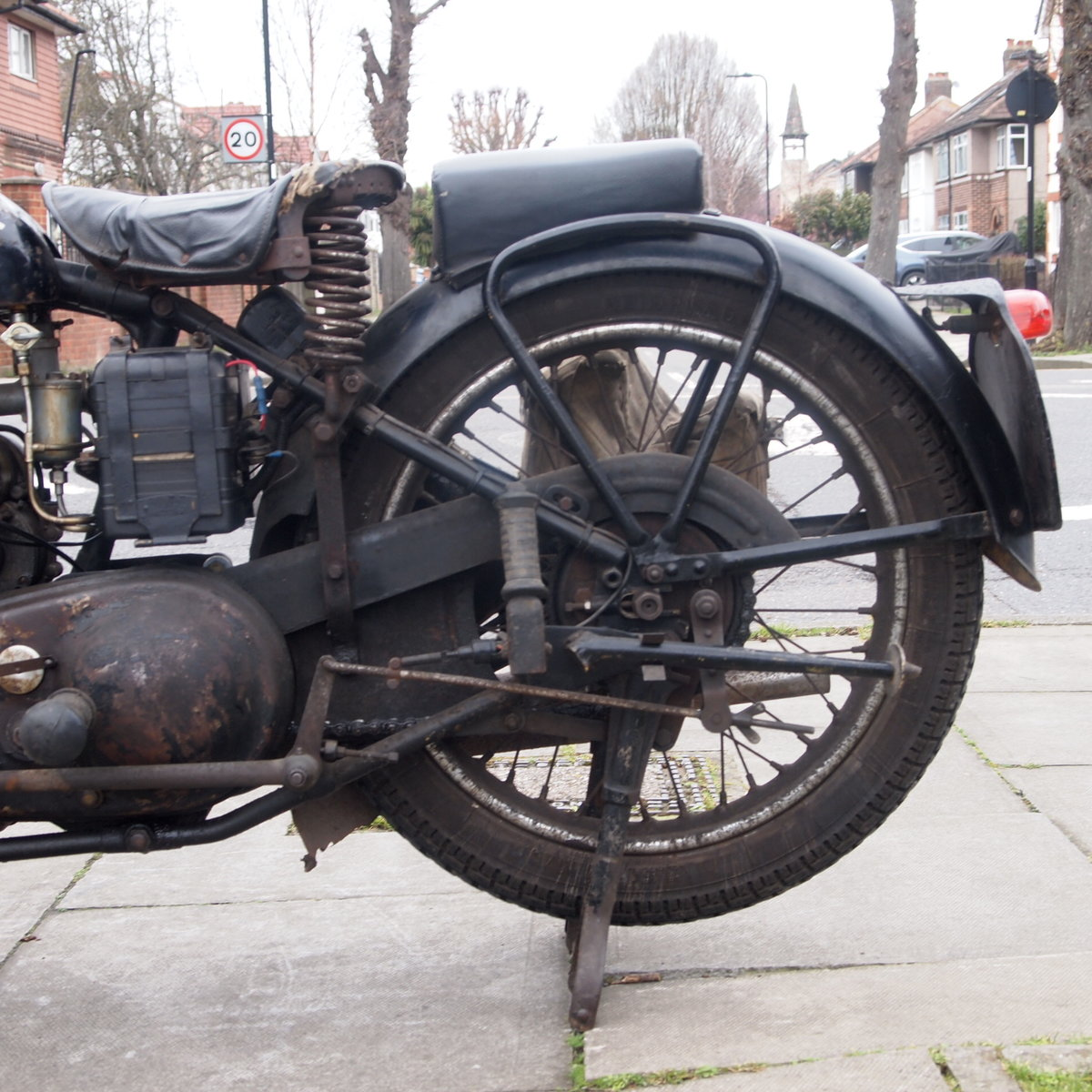 1949 Royal Enfield Model G 350cc Original & Unmolested. For Sale (picture 7 of 12)