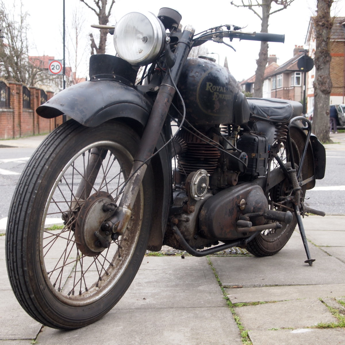 1949 Royal Enfield Model G 350cc Original & Unmolested. For Sale (picture 8 of 12)