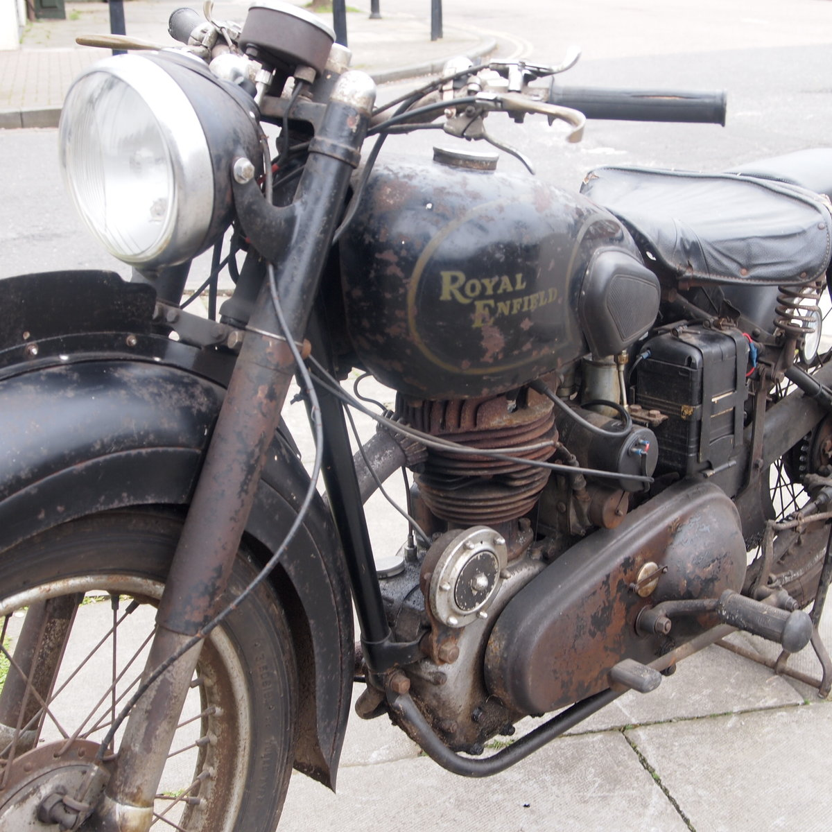 1949 Royal Enfield Model G 350cc Original & Unmolested. For Sale (picture 11 of 12)
