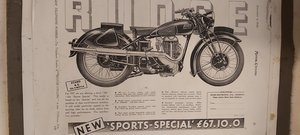 1938 Rudge  project  500cc  Sports  Special