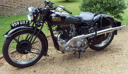 1937 Rudge Sports Special 500cc to be sold on October 28th SOLD by Auction (picture 1 of 2)