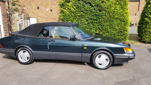 1993 Superb condition Saab 900 T 16s Convertible SOLD (picture 1 of 6)