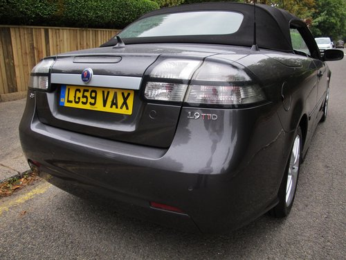 SAAB 93 VECTOR SPORT TTiD 180 CONVERTIBLE 2009/59 33000m FSH SOLD (picture 6 of 6)