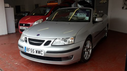 2005 SAAB 93   2,0 LTR  CONVERTIBLE  LOW MILES SOLD (picture 1 of 6)