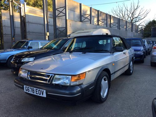 1989 Saab 900 T16 Convertible For Sale (picture 1 of 1)