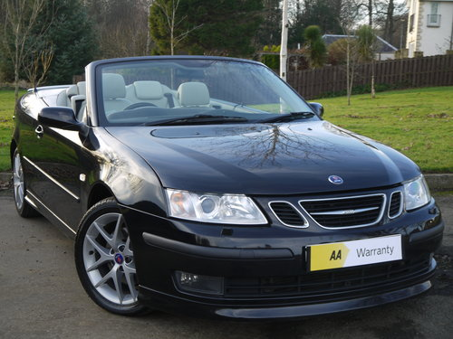 2007 Saab 9-3 2.0 T Aero 210bhp convertible Auto ONLY 49000 MILES For Sale (picture 1 of 6)