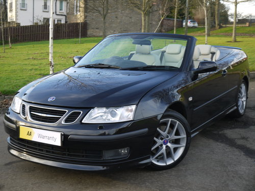 2007 Saab 9-3 2.0 T Aero 210bhp convertible Auto ONLY 49000 MILES For Sale (picture 2 of 6)