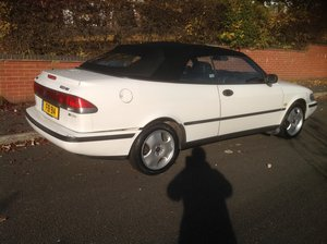 1997 Saab 900 SE convertible automatic private plate