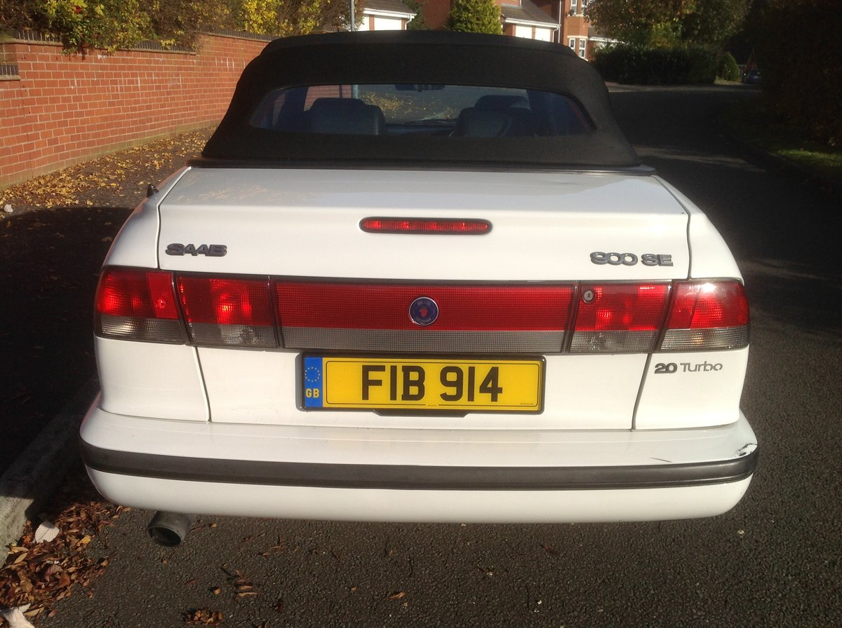 1997 Saab 900 SE convertible automatic private plate For Sale (picture 3 of 6)