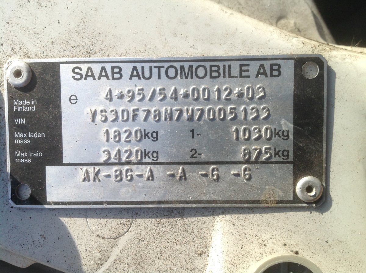1997 Saab 900 SE convertible automatic private plate For Sale (picture 6 of 6)