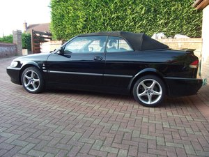 1999 SAAB 93 VIGGEN CONVERTIBLE, BLACK.