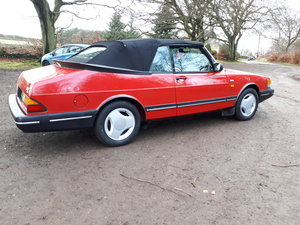 1990 Saab900i se16v convertible 1991 Imaculate full mot