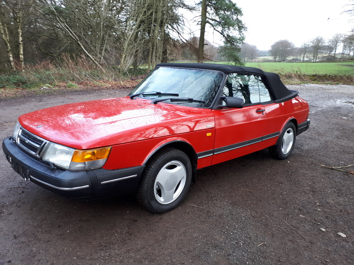 1990 Saab900i se16v convertible 1991 Imaculate full mot For Sale (picture 2 of 6)