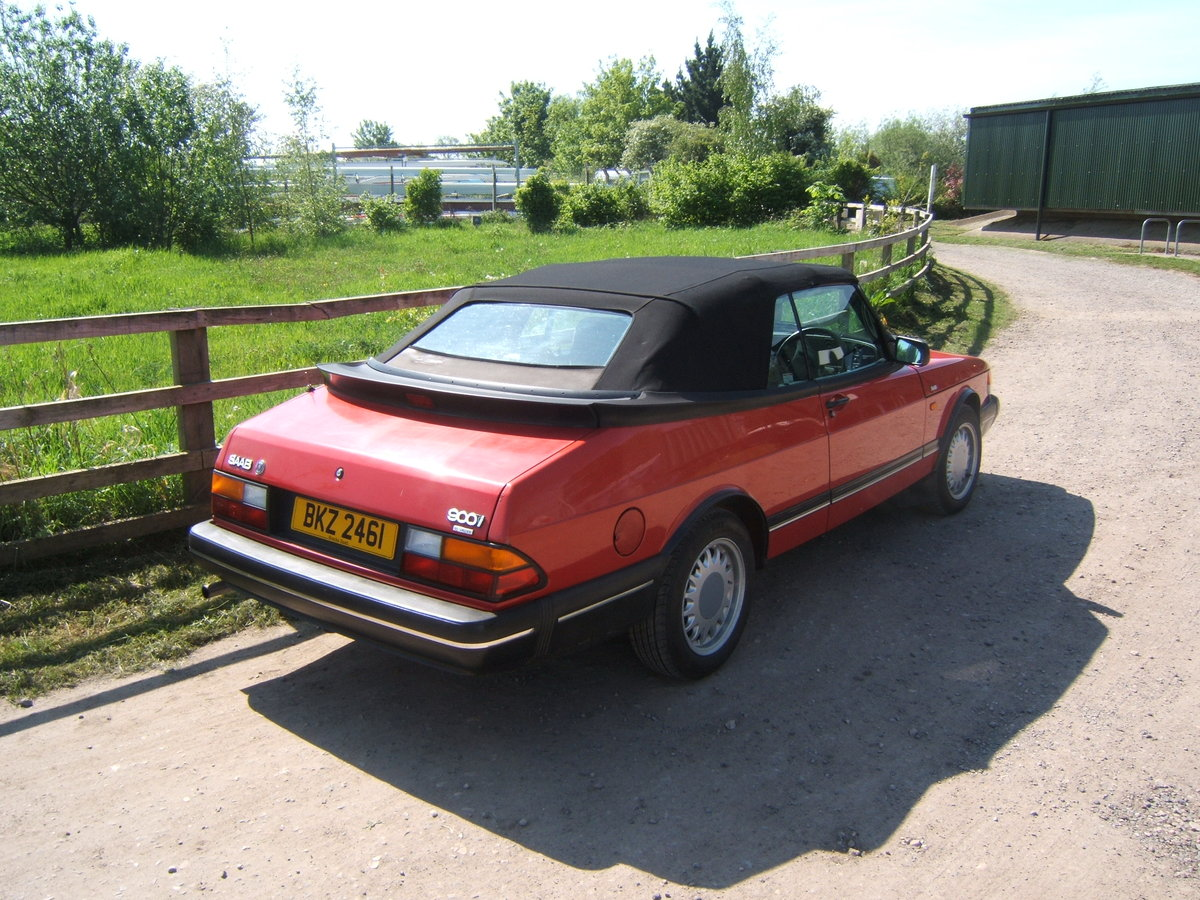 1993 Saab 900i, non-turbo Convertible SOLD (picture 5 of 6)
