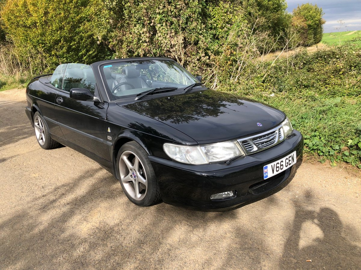 2000 Saab 9-3 2.3 HOT VIGGEN Convertible - black For Sale (picture 3 of 6)
