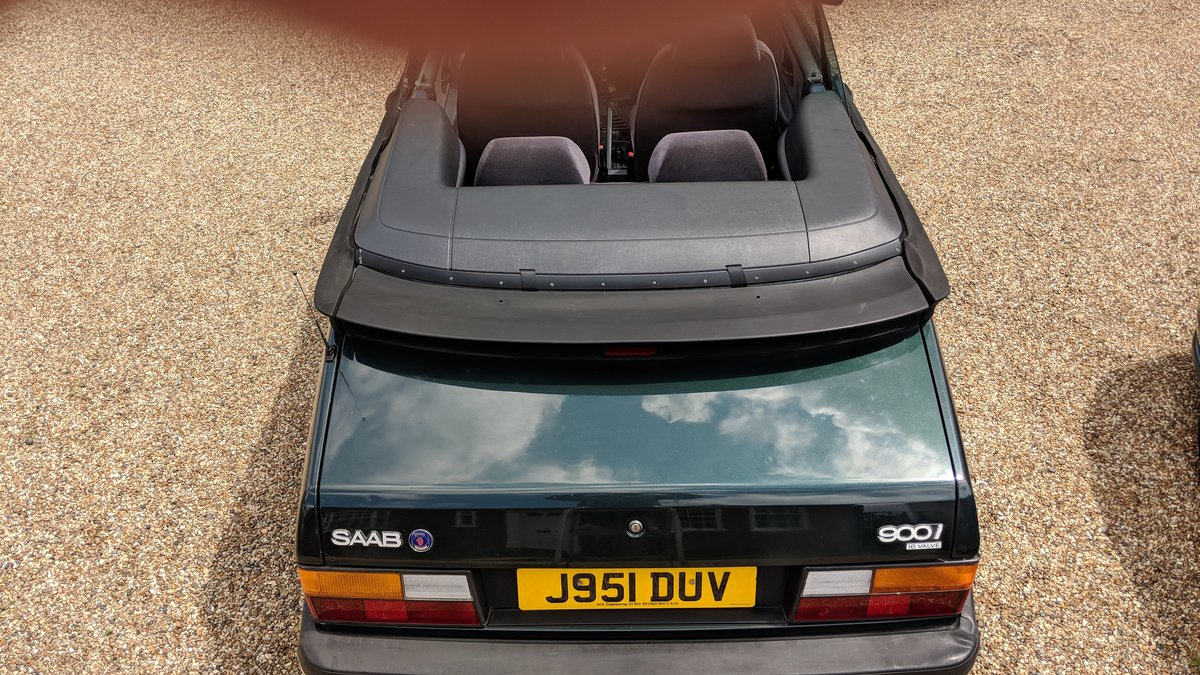 1992 Saab 900i 16v 5-speed Classic Convertible SOLD (picture 2 of 6)
