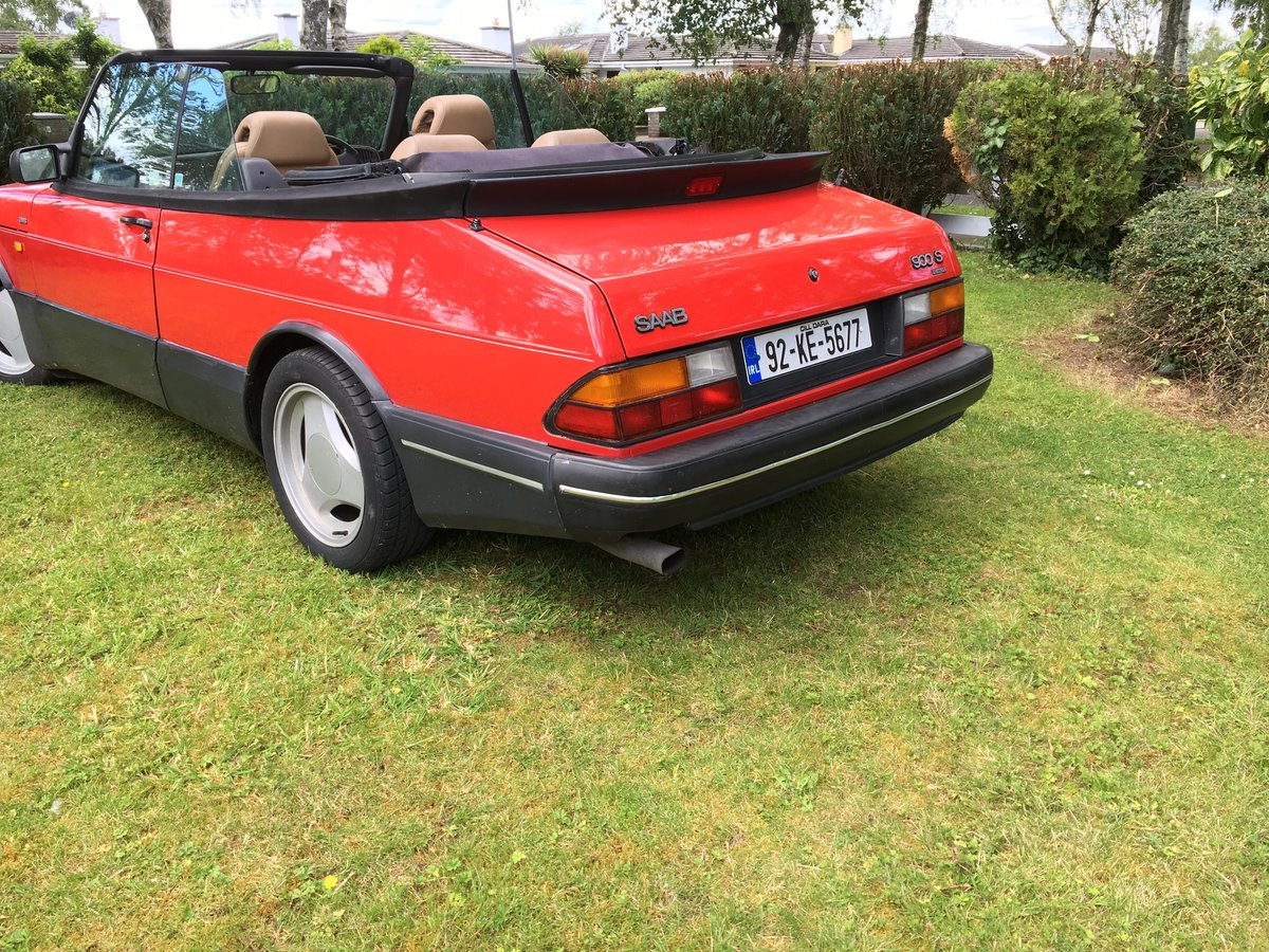 1992 Saab 900 Turbo Convertible with Charge Cooler For Sale (picture 2 of 6)