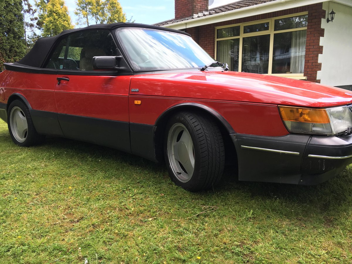 1992 Saab 900 Turbo Convertible with Charge Cooler For Sale (picture 3 of 6)