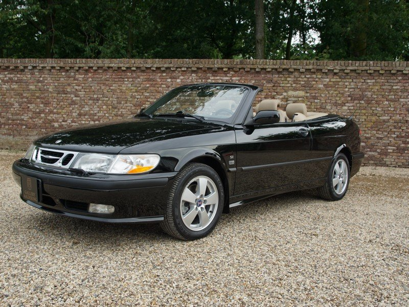 2003 Saab 9-3 2.0 Turbo Convertible only 58.836 miles, two owners For Sale (picture 1 of 6)