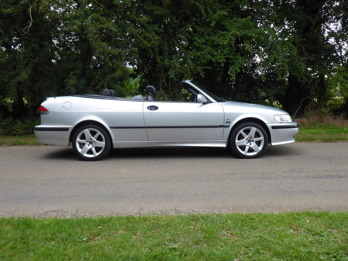 2002 Saab 93 Turbo SE Convertible 185bhp Superb Order 17 Services For Sale (picture 1 of 6)