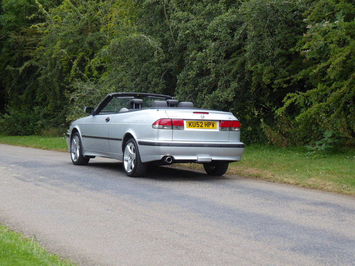 2002 Saab 93 Turbo SE Convertible 185bhp Superb Order 17 Services For Sale (picture 4 of 6)