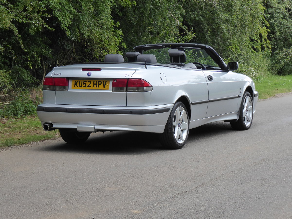 2002 Saab 93 Turbo SE Convertible 185bhp Superb Order 17 Services For Sale (picture 6 of 6)