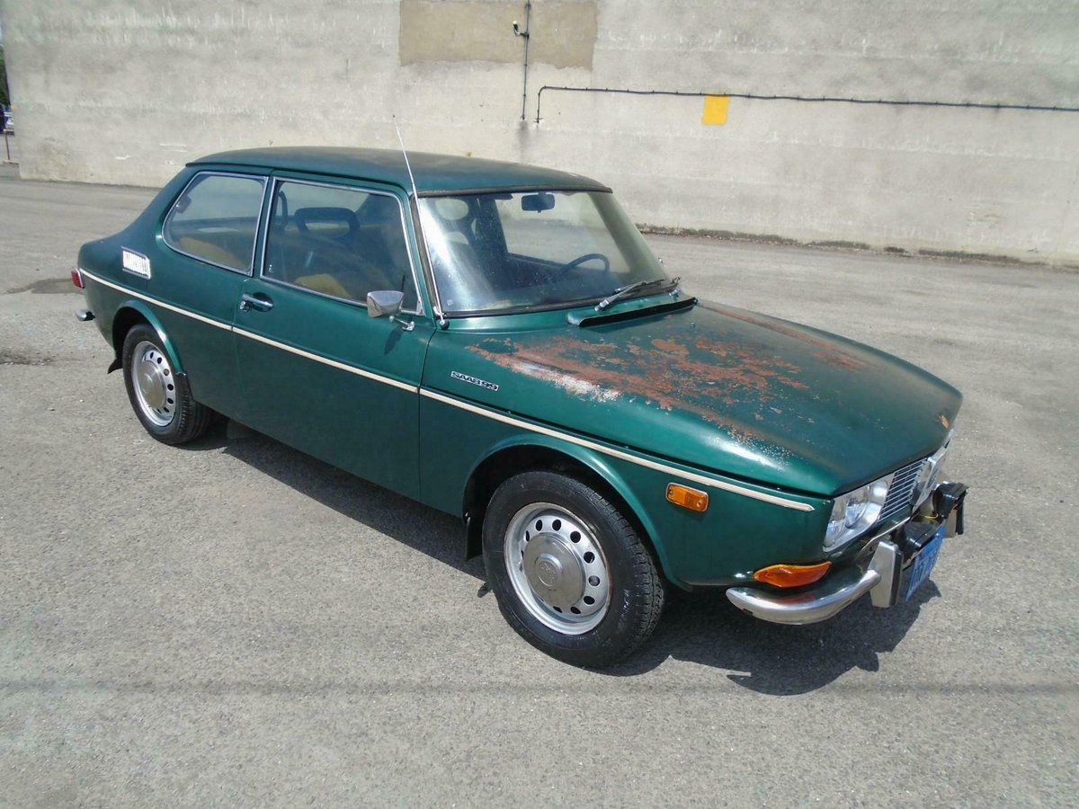 SAAB 99 1850 AUTOMATIC LHD 2DR(1971) MET GREEN 1 OWNER!  For Sale (picture 1 of 6)