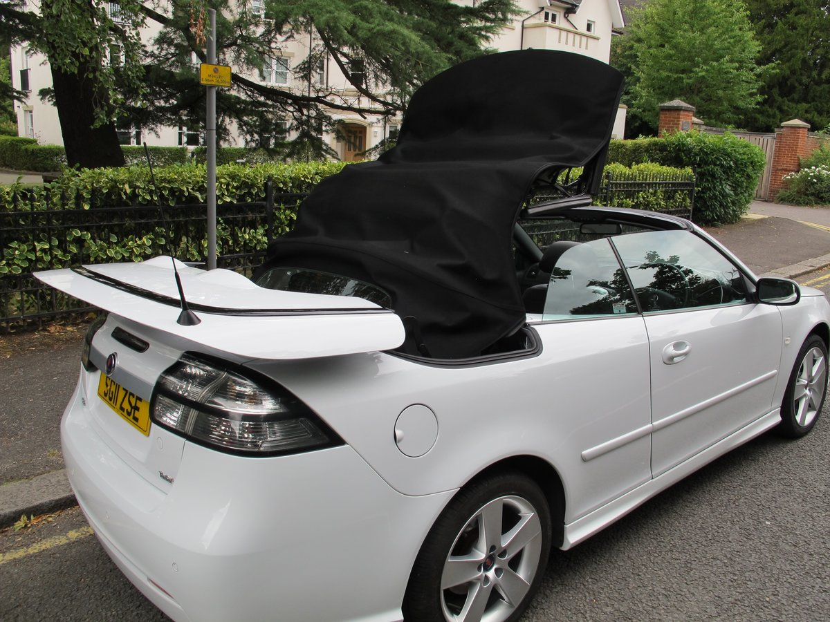 SAAB 93 2.0t SE CONVERTIBLE 2011 1 OWNER FSH WHITE ....WOW ! For Sale (picture 6 of 6)