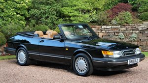 1987 SAAB 900 16 VALVE TURBO CONVERTIBLE - 74000 MILES