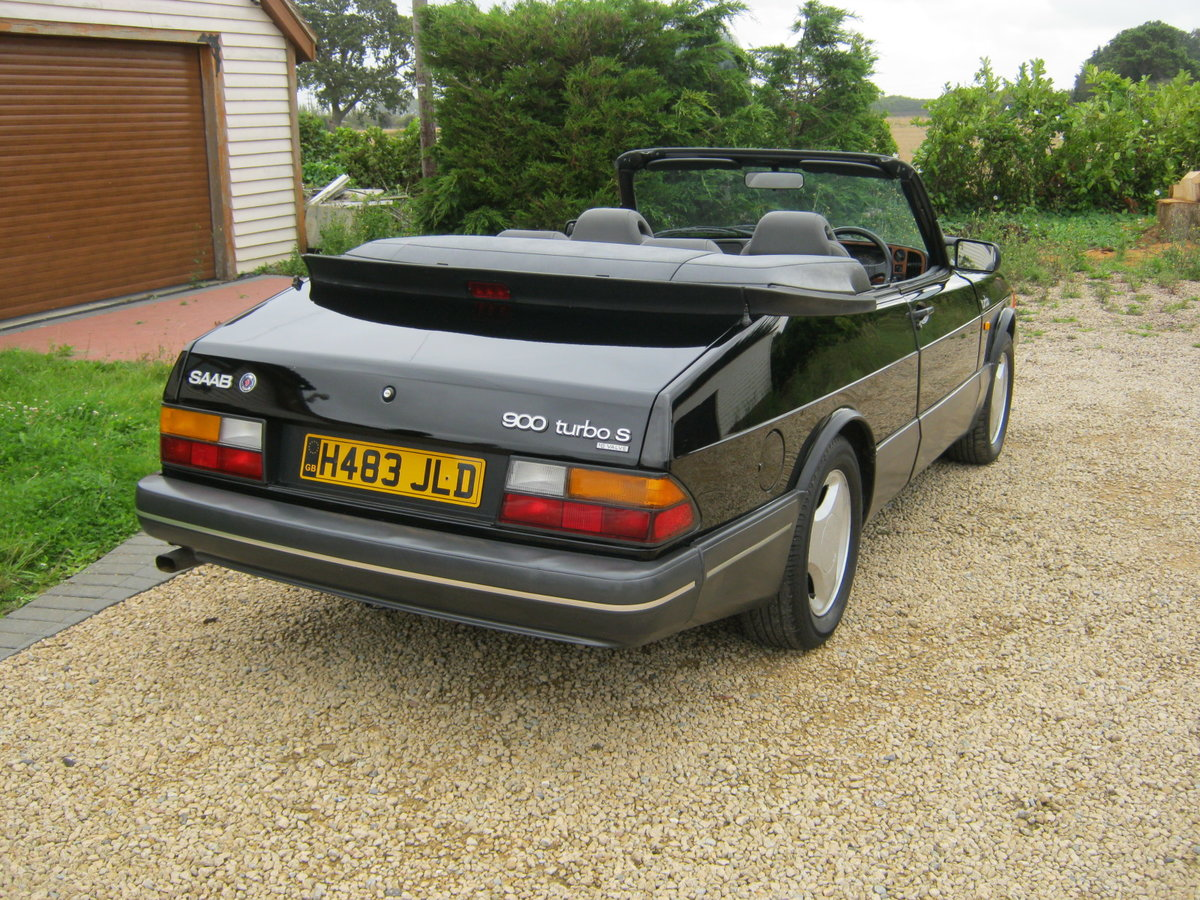 1991 SAAB 900 TURBO 16S CONVERTIBLE. FACTORY BLACK. NEW ROOF SOLD (picture 4 of 6)