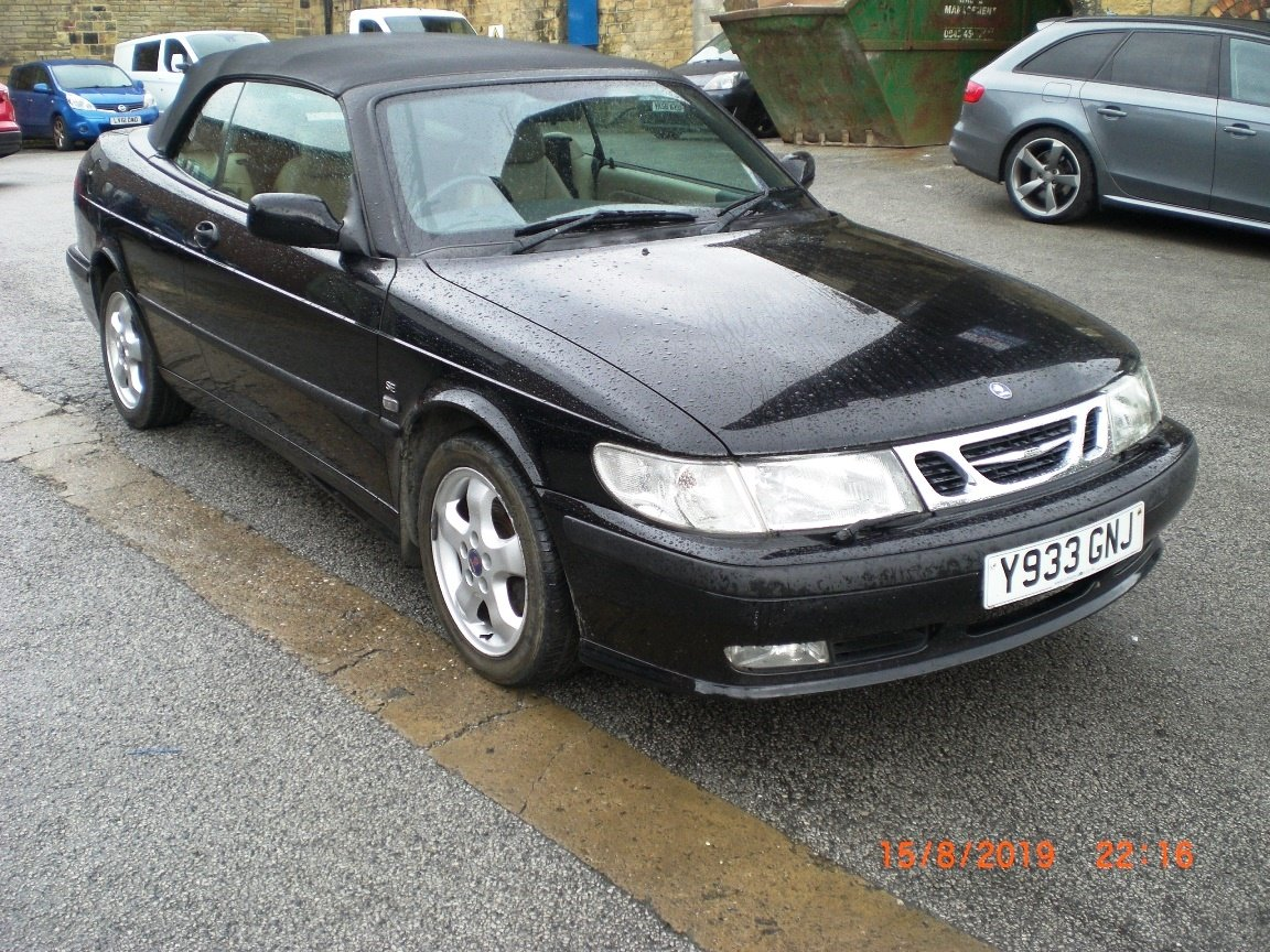 2001 Saab 9-3 SE Turbo Convertible For Sale (picture 1 of 6)