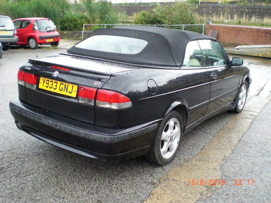 2001 Saab 9-3 SE Turbo Convertible For Sale (picture 4 of 6)