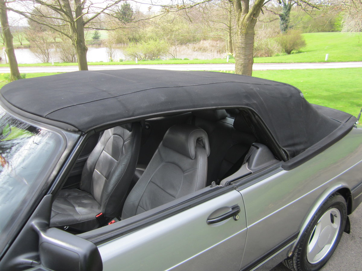 1991 SAAB 900I 16V CONVERTIBLE ~ USE & IMPROVEB ~BARGAIN TO CLEAR For Sale (picture 3 of 6)