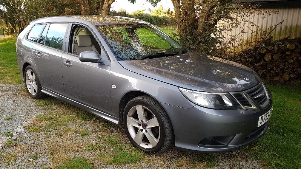 2009 09 59 Saab 9-3 1.9 TiD 150 Estate FSH Leather Lady own 2012 SOLD (picture 1 of 6)