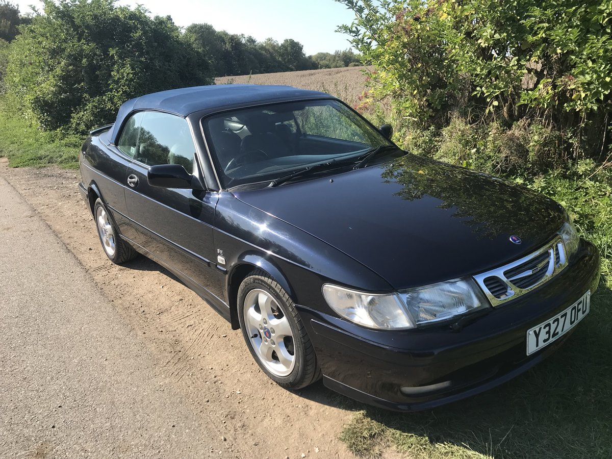 2001 Saab 93 Cabriolet Super fun for late summer !! For Sale (picture 1 of 6)
