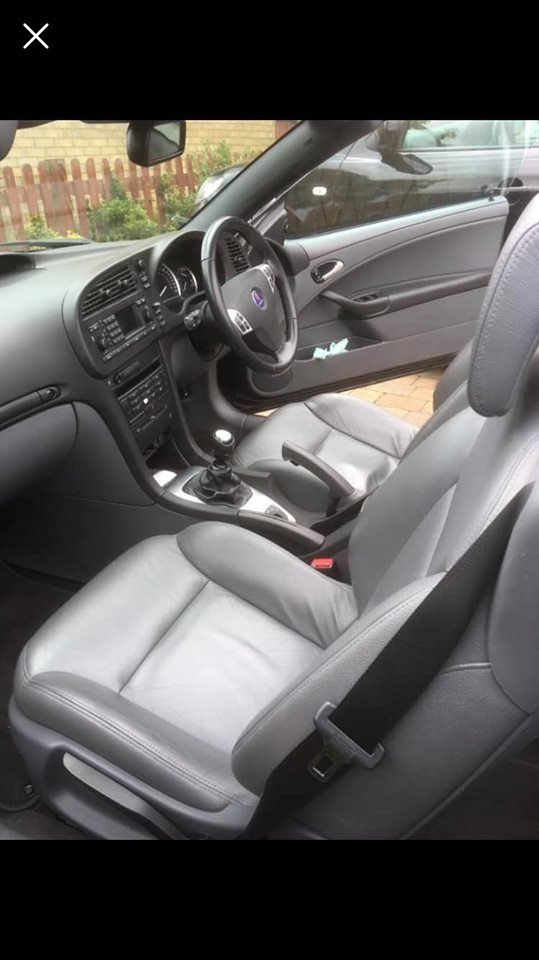 2005 Saab 93 2.0T Aero Convertible 67k For Sale (picture 6 of 6)