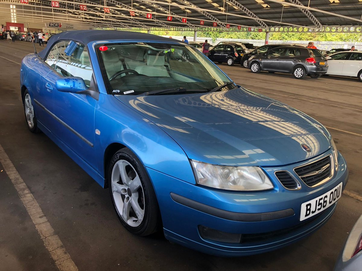 2006 Saab 93 manual full mot tax leather alloys For Sale (picture 1 of 6)