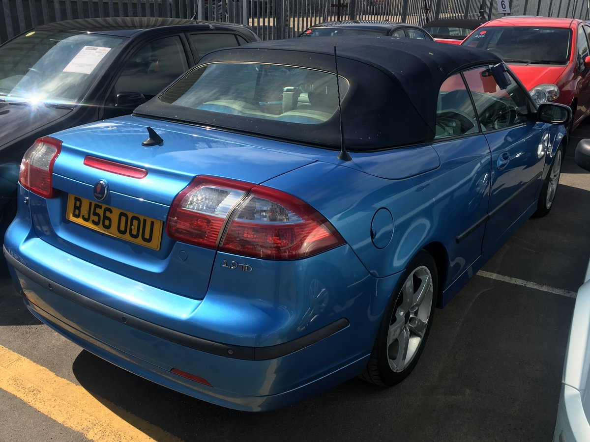 2006 Saab 93 manual full mot tax leather alloys For Sale (picture 2 of 6)