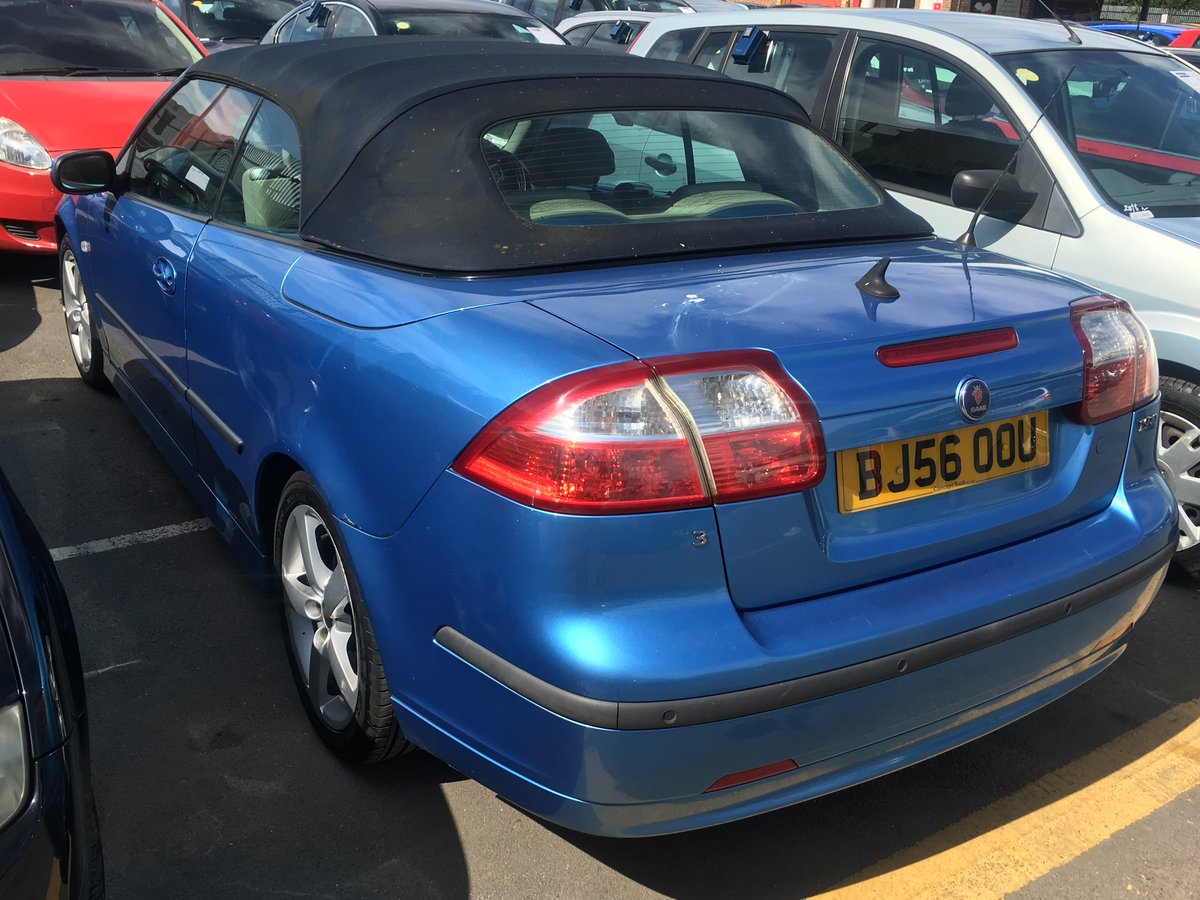 2006 Saab 93 manual full mot tax leather alloys For Sale (picture 3 of 6)