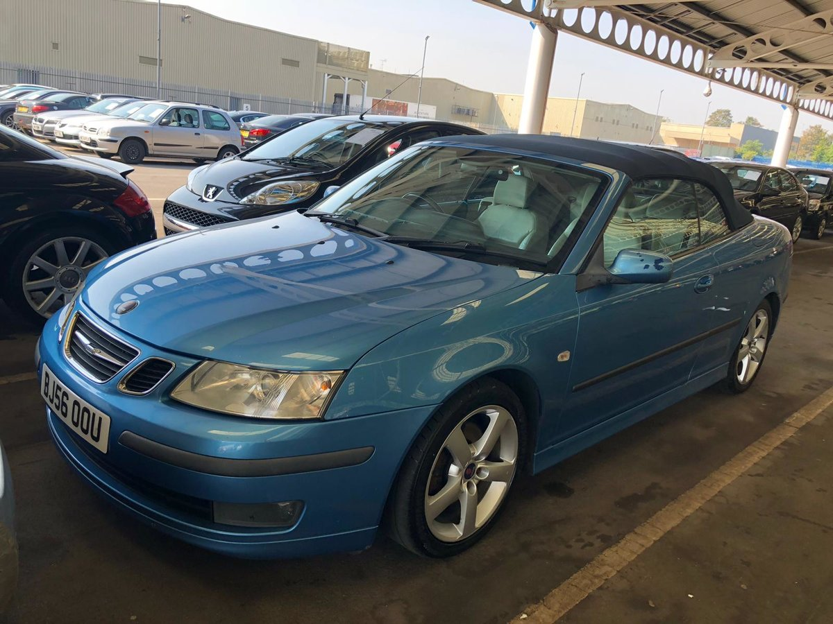 2006 Saab 93 manual full mot tax leather alloys For Sale (picture 6 of 6)