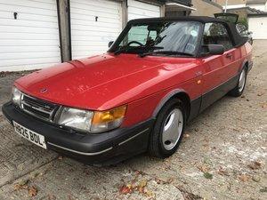 1990 SAAB 900 Turbo T16 Convertible, Auto, 142k, MOT'd.