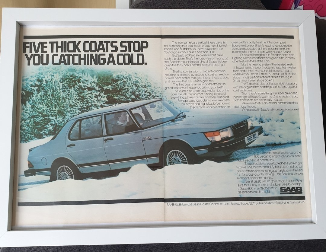 1981 Saab 900 Turbo Advert Original  For Sale (picture 1 of 2)