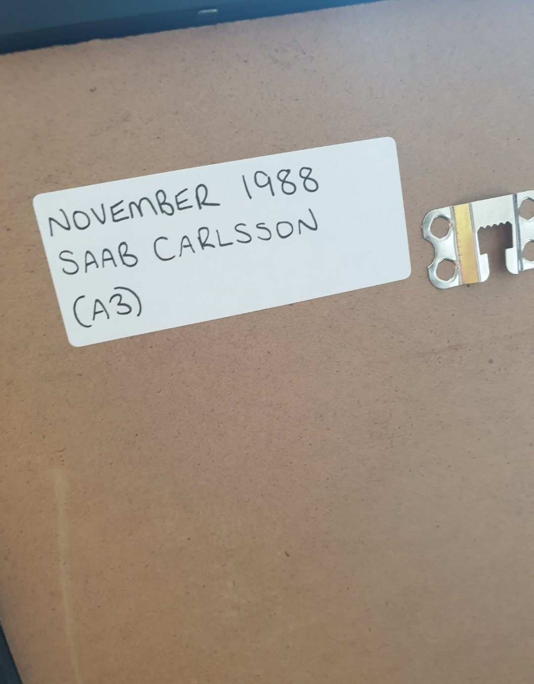 1988 Saab Carlsson Advert Original  For Sale (picture 2 of 2)