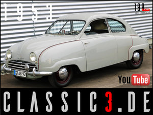 1953  SAAB 92B DELUXE RESTORED SWEDISH LEGEND WATCH THE VIDEO