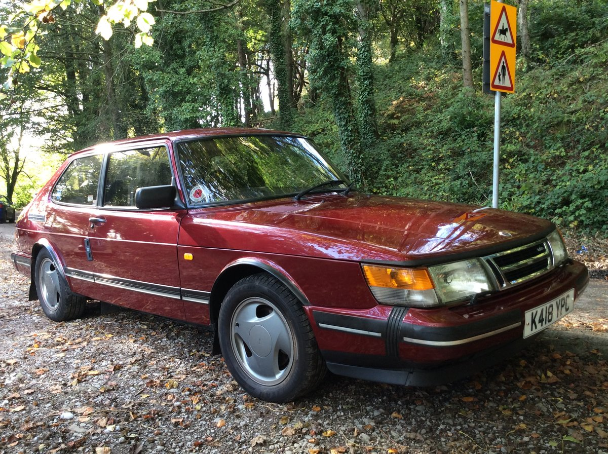 1993 Ruby Saab 900 T16  Very rare SOLD (picture 1 of 6)