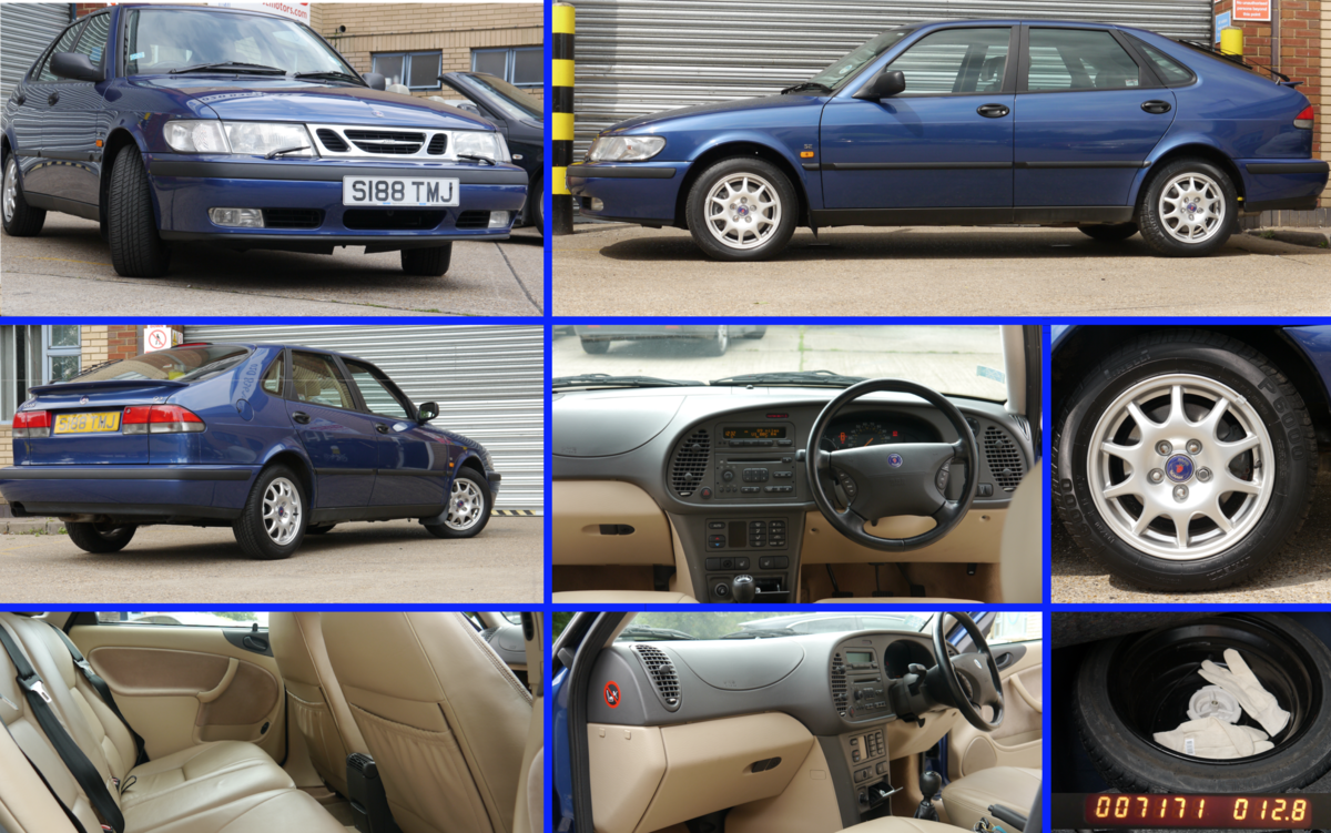 1998 Saab 93 SE 5Dr 1 Owner 7171 Miles Immaculate For Sale (picture 2 of 6)