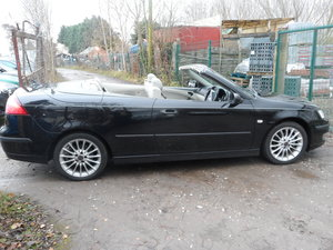 05 PLATE SAAB 93 SOFT TOP IN BLACK NICE  LOOKER F.S.H 91,000