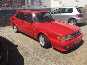 1990 Saab 900 Red over Black